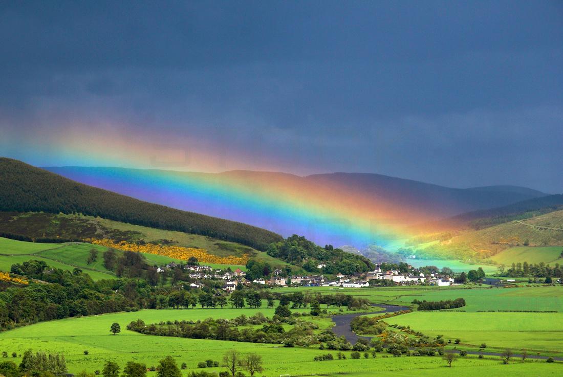 Rainbow over Walkerburn