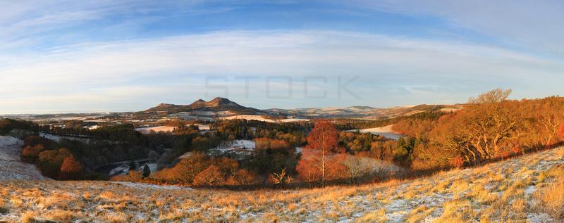 Scott's View Winter Sunrise Panorama