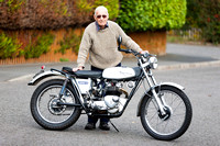 Ricky with his Triumph 21